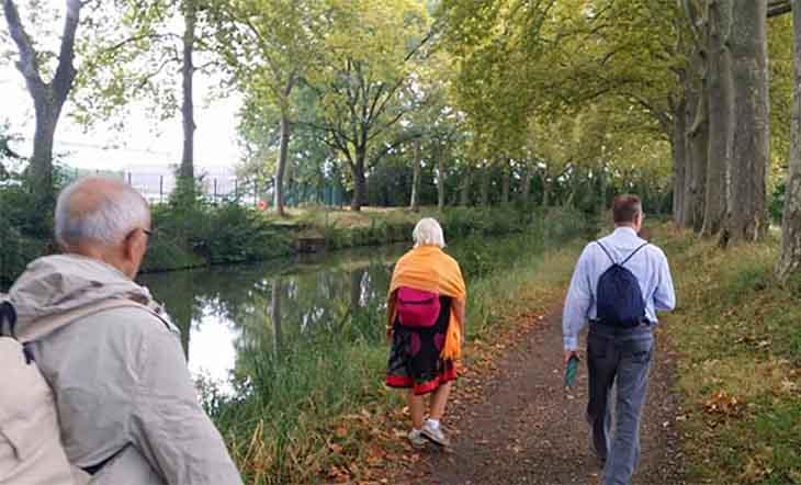 Prier et marcher à Toulouse